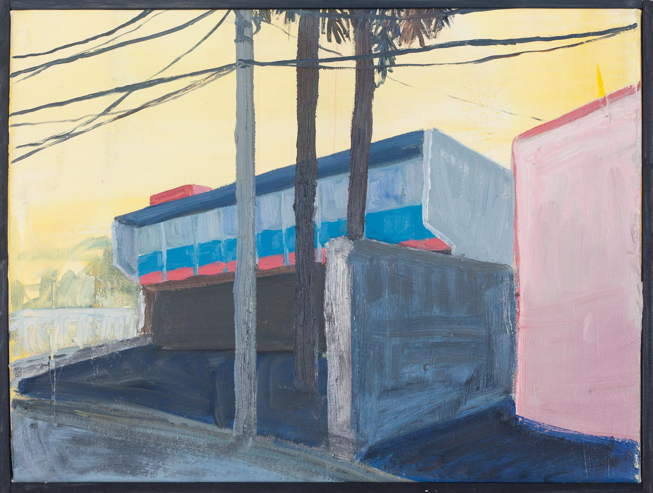 Vivienda privada 1959-I  , 2016, óleo sobre tela, 33 x 43 cm.