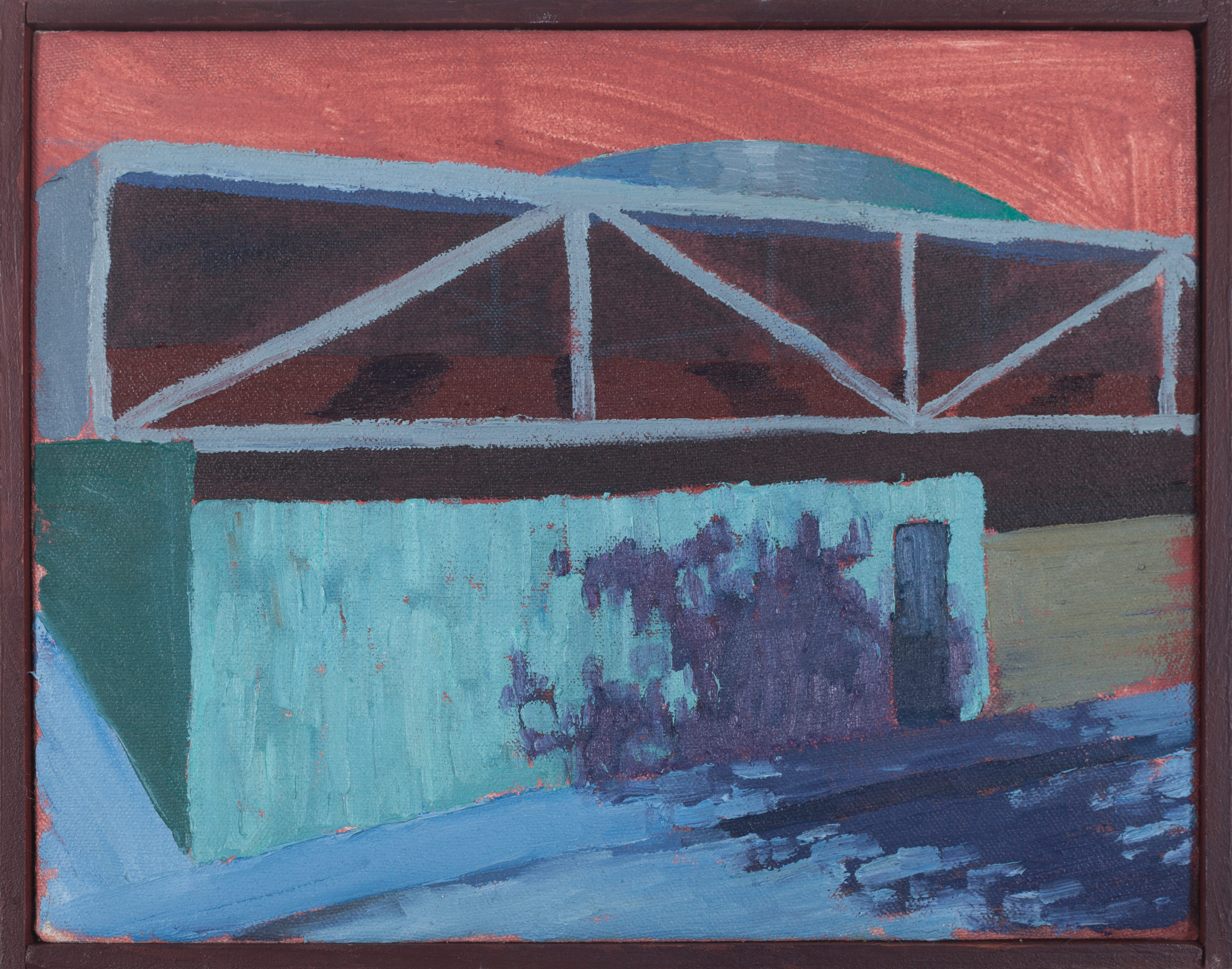 Vivienda privada 1966  , 2016, óleo sobre tela, 23 x 33 cm.