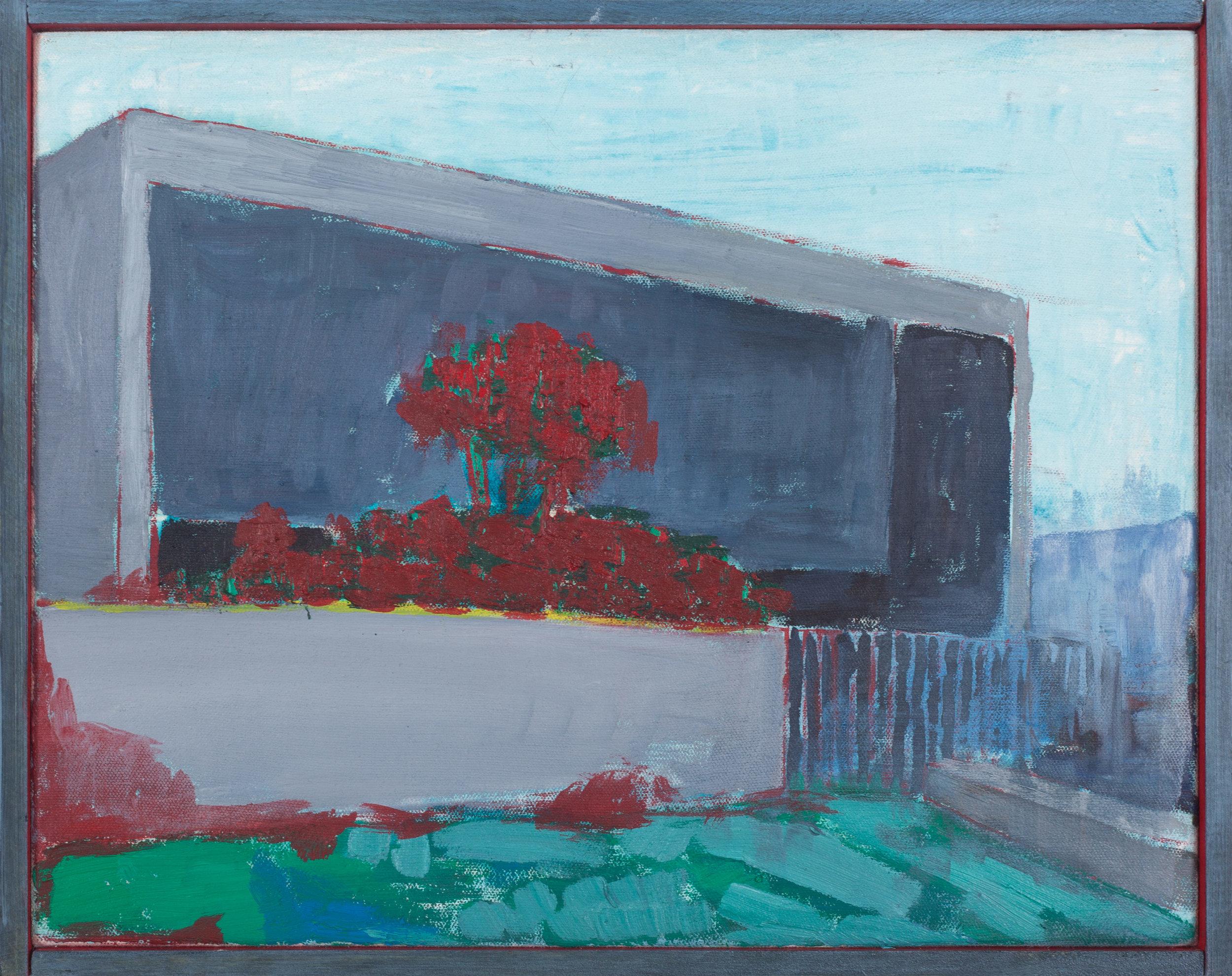Vivienda privada 1968  , 2016, óleo sobre tela, 26 x 33 cm.