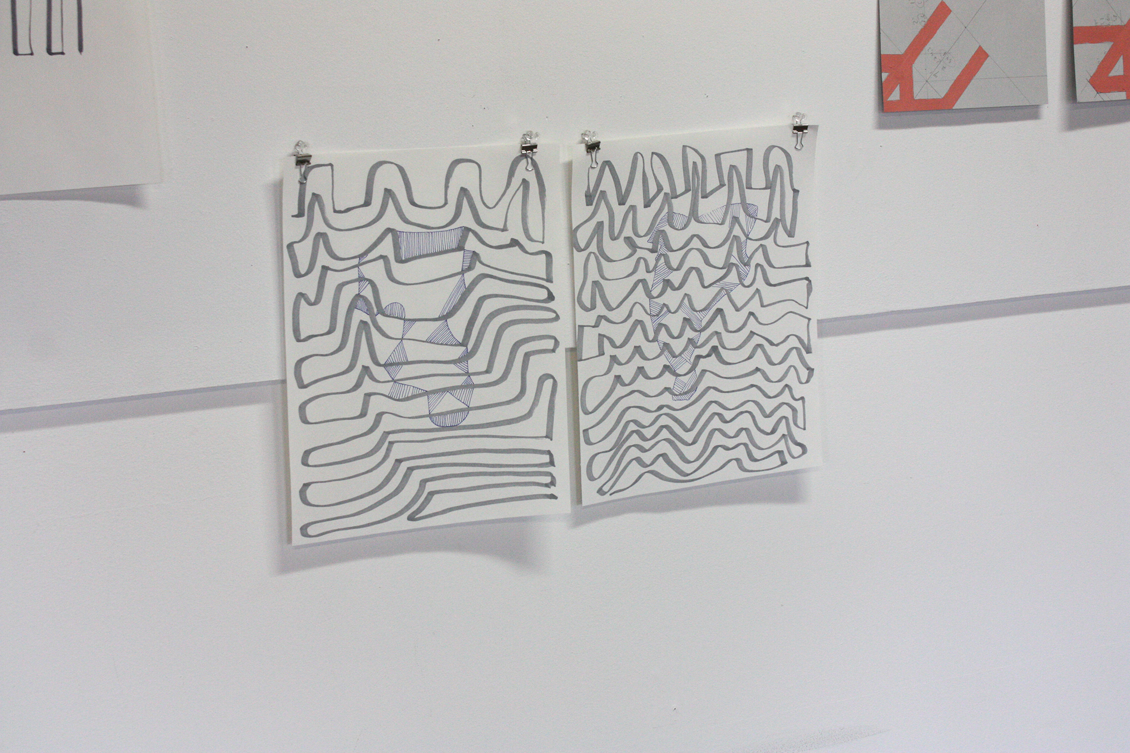 Neige  , 2017, tinta y lápiz sobre papel, 36 x 26 cm.