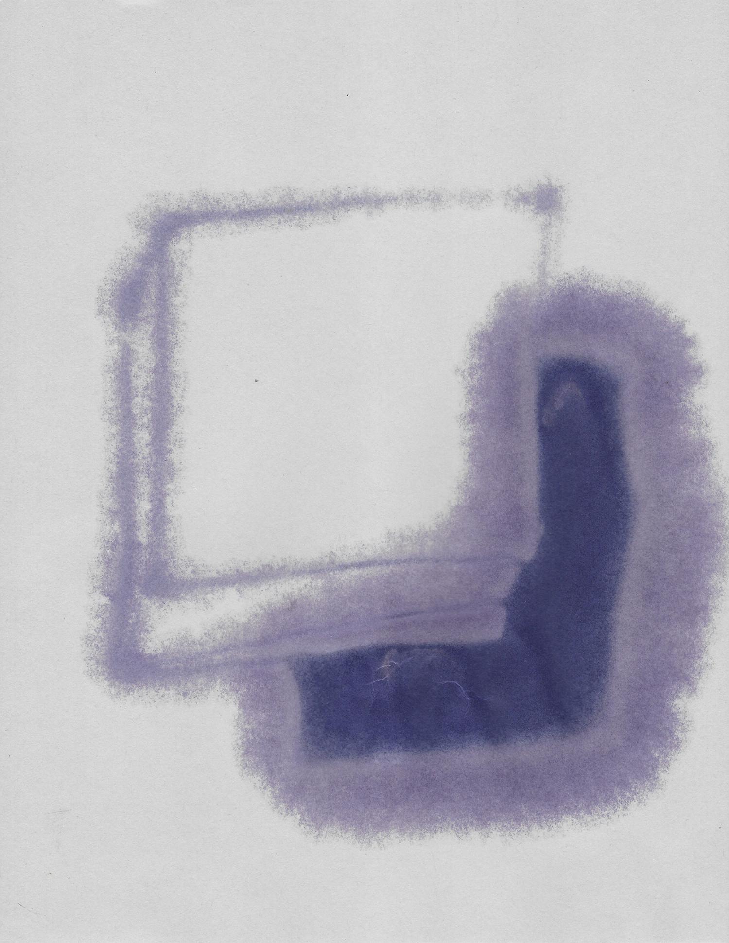 Terre des hommes  , 2017, tonner sobre papel, 28 x 22 cm.