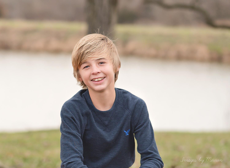 Teenage boy posing for photo shoot