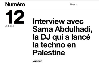 Numéro, 12th July 2018