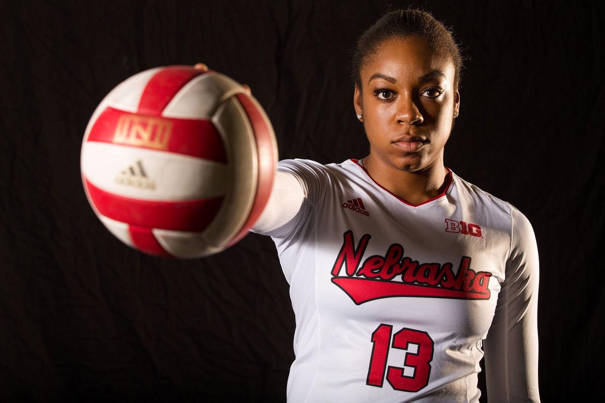 Briana Holman University of Nebraska MB AVCA All-American  2017 NCAA Volleyball National Champion