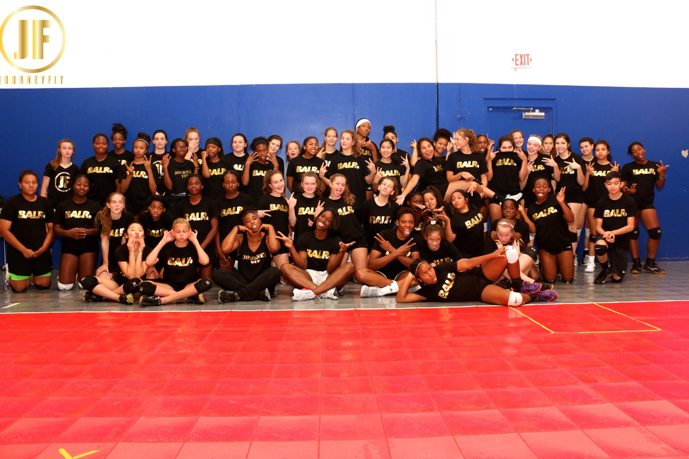 Athletes from 2018 Volleyball training Camp