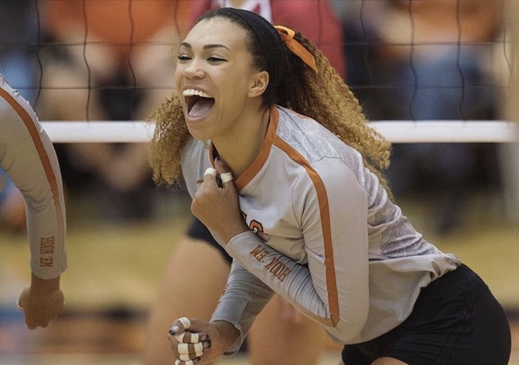 Ebony Nwanebu  University of Texas OH AVCA All -American
