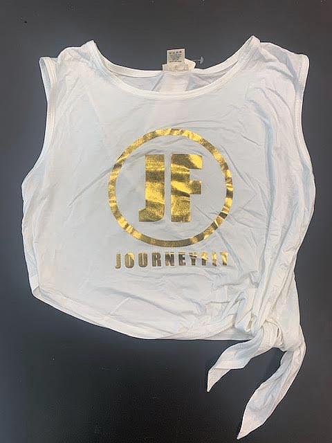 JOURNEYFIT GOLD FOIL LOGO Side Tie Tank - EVERYDAY & WORKOUT SWAG