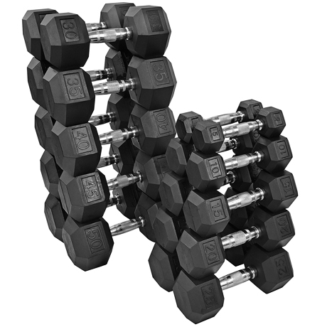 Dumbbels $15.75-$52.50    Twenty-five set of various weights are needed and will be purchased from Fitness Depot Houston, one of our direct suppliers with exceptional service. Click the link to purchase. We will pick up order in store.
