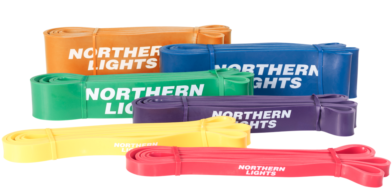 NORTHERN LIGHTS Power Bands $19.99-$59.99.    In house supplier Fitness Depot Houston is our regional provider with great service. Various Bands are needed. Click the link to purchase. We will pick up order in store.
