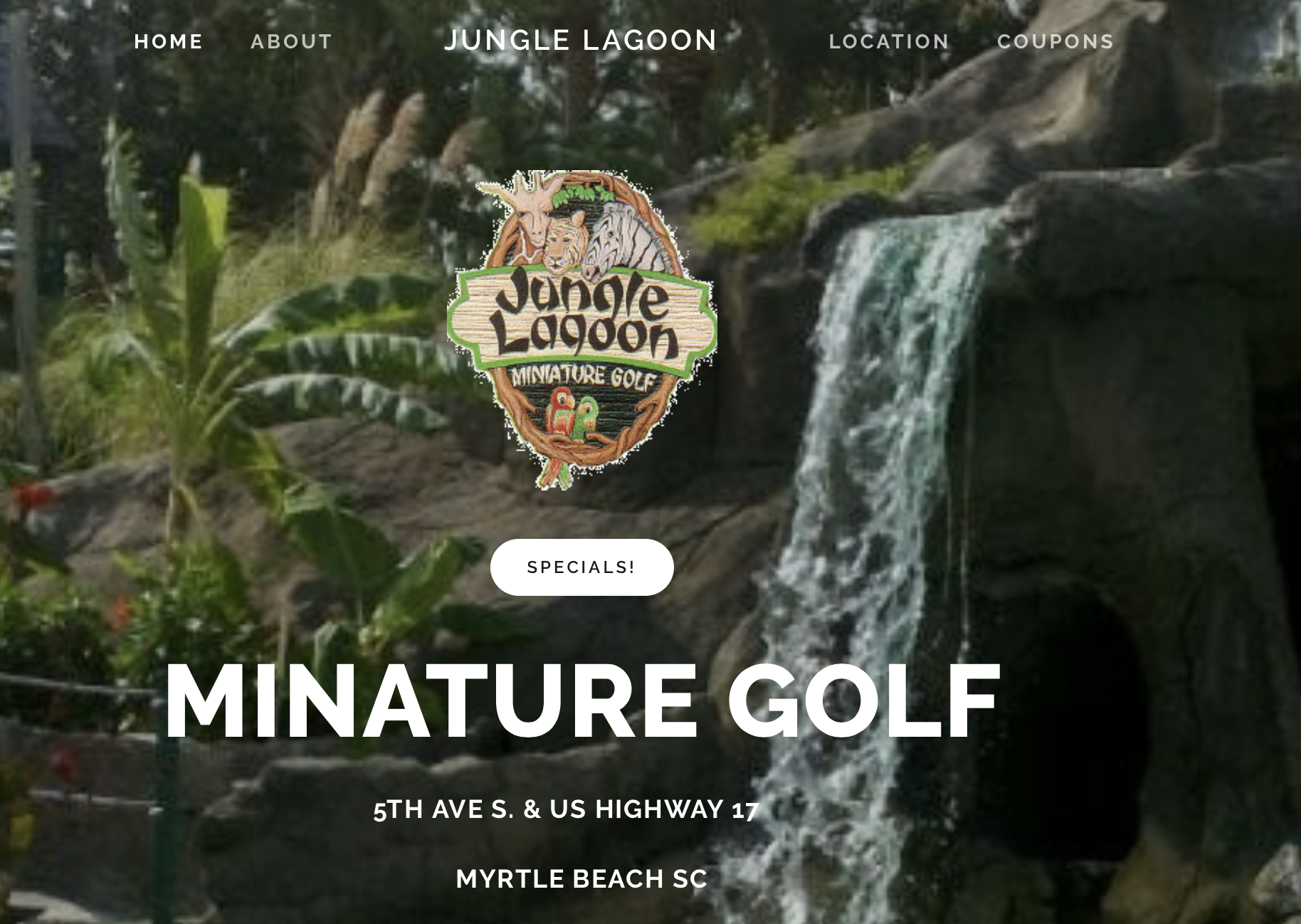 Jungle Lagoon miniature golf business. Click on the image above to view the website.