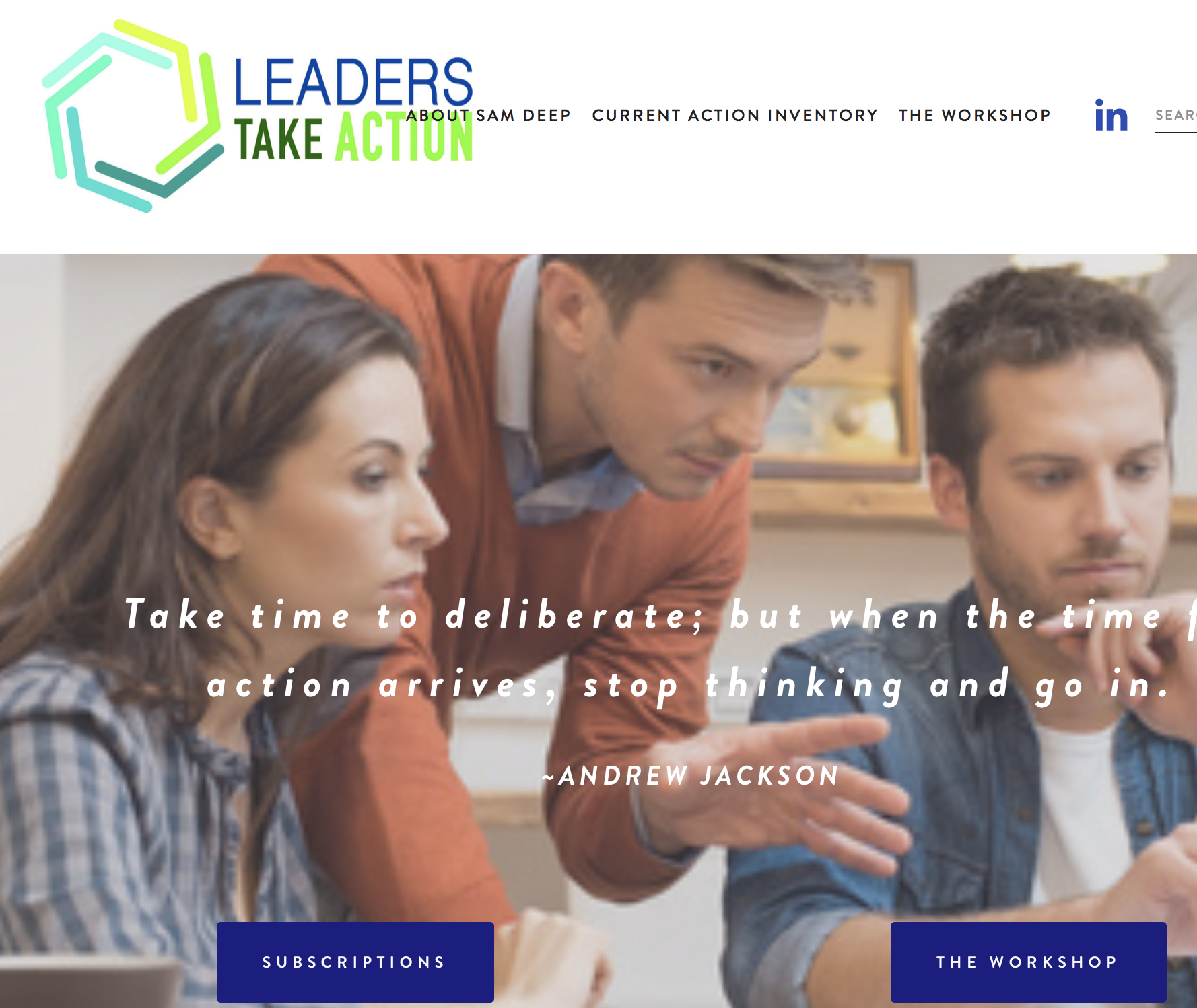 Leaders Take Action - Leadership training business. Click on the image above to view the website.