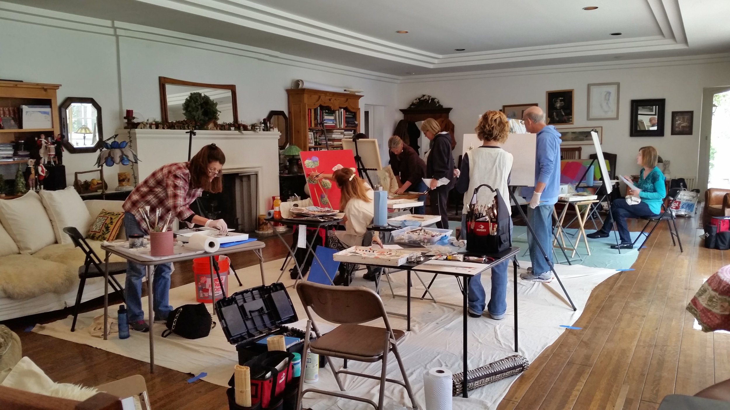 Oil Painting Workshop Directed by Bobbie Moline Kramer - Spring 2015
