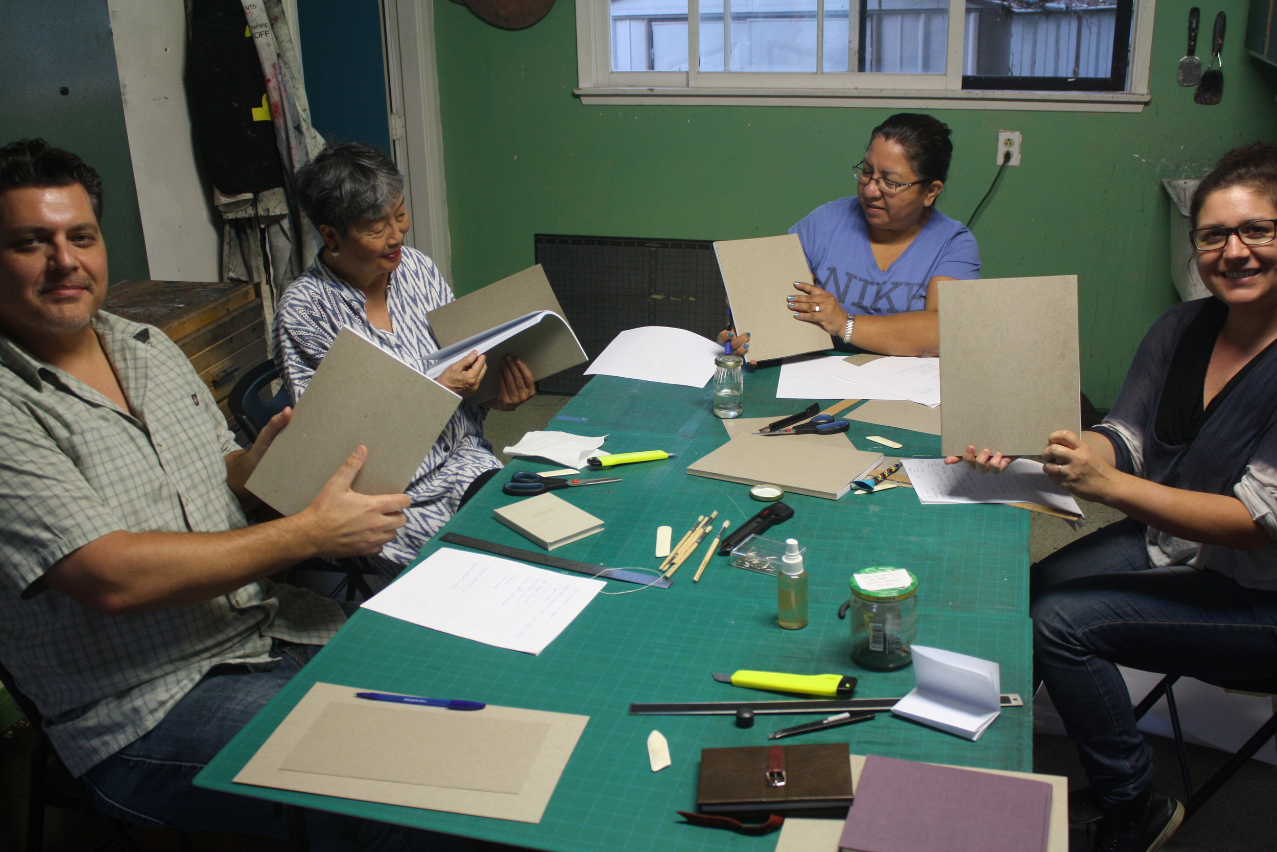 Jennifer Phiffer's Soft-Bound Bookmaking Workshop - Fall 2014