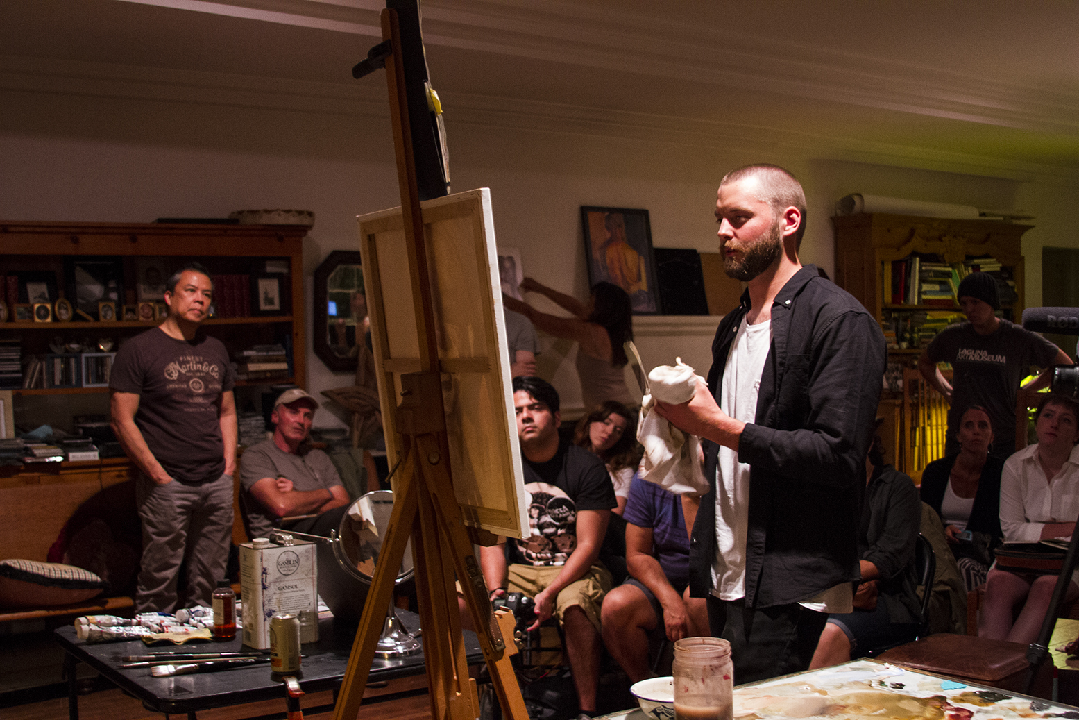 Oil Painting Workshop with Artist-in-Residence Benjamin Bjorklund - August 2015