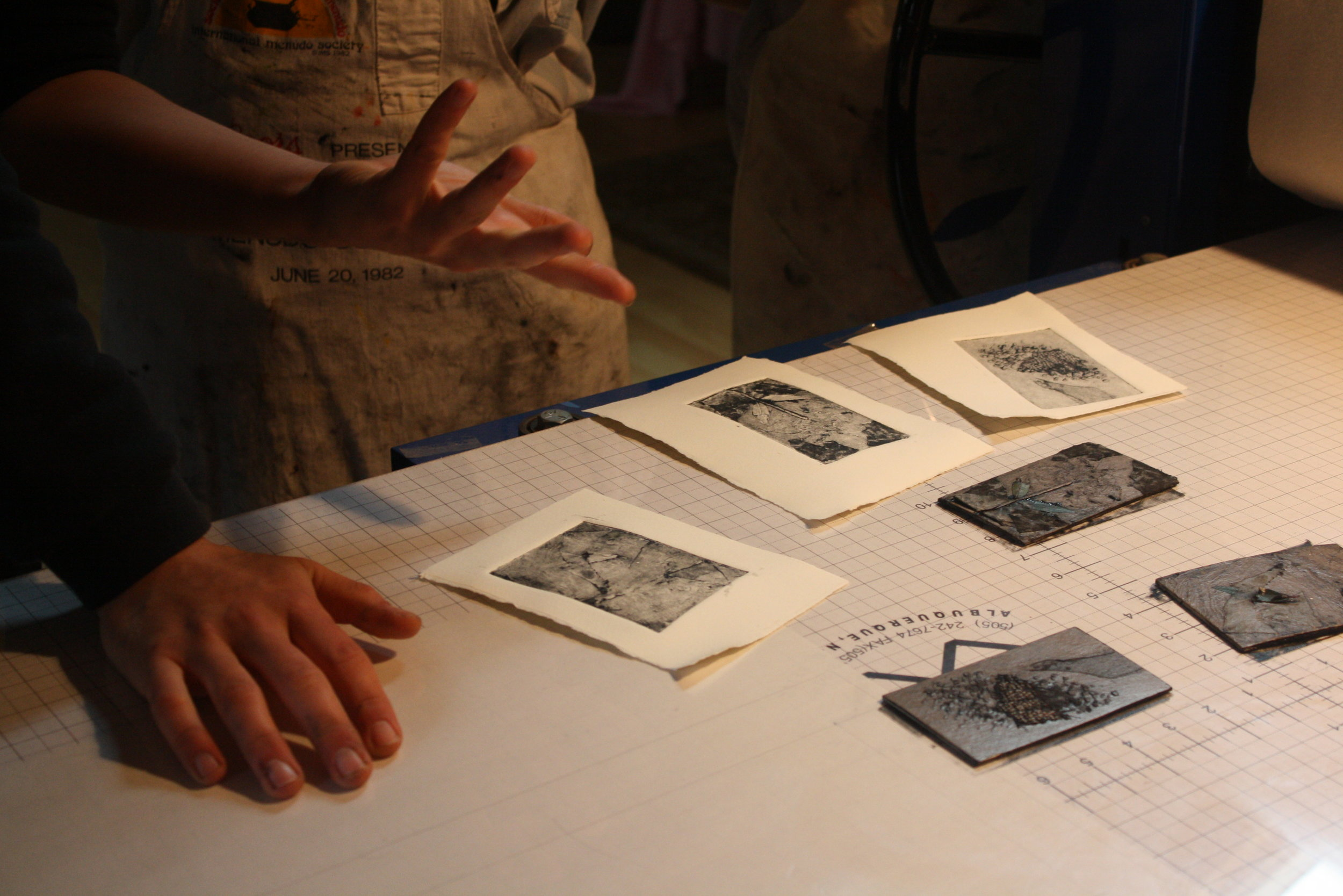 Miles Lewis' Collagraph Workshop - Winter 2014