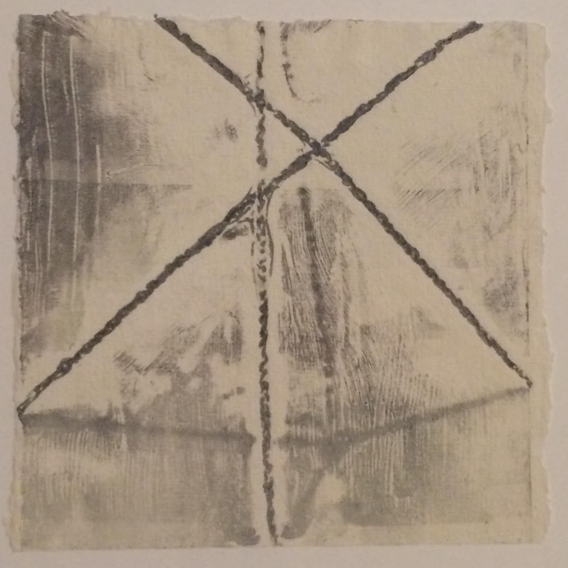 Double Bind (no.2) -  $100  - Collagraph Print on Handmade Paper, 6'' x 6'' UNFRAMED.