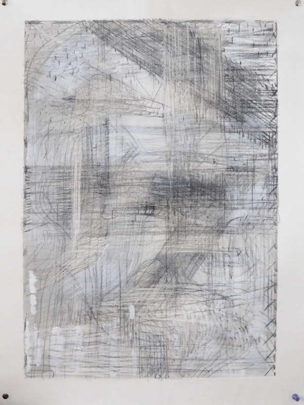 Bushwick No.12  -  $250  - Pencil and White Paint on Paper. 18'' x 24'' UNFRAMED.
