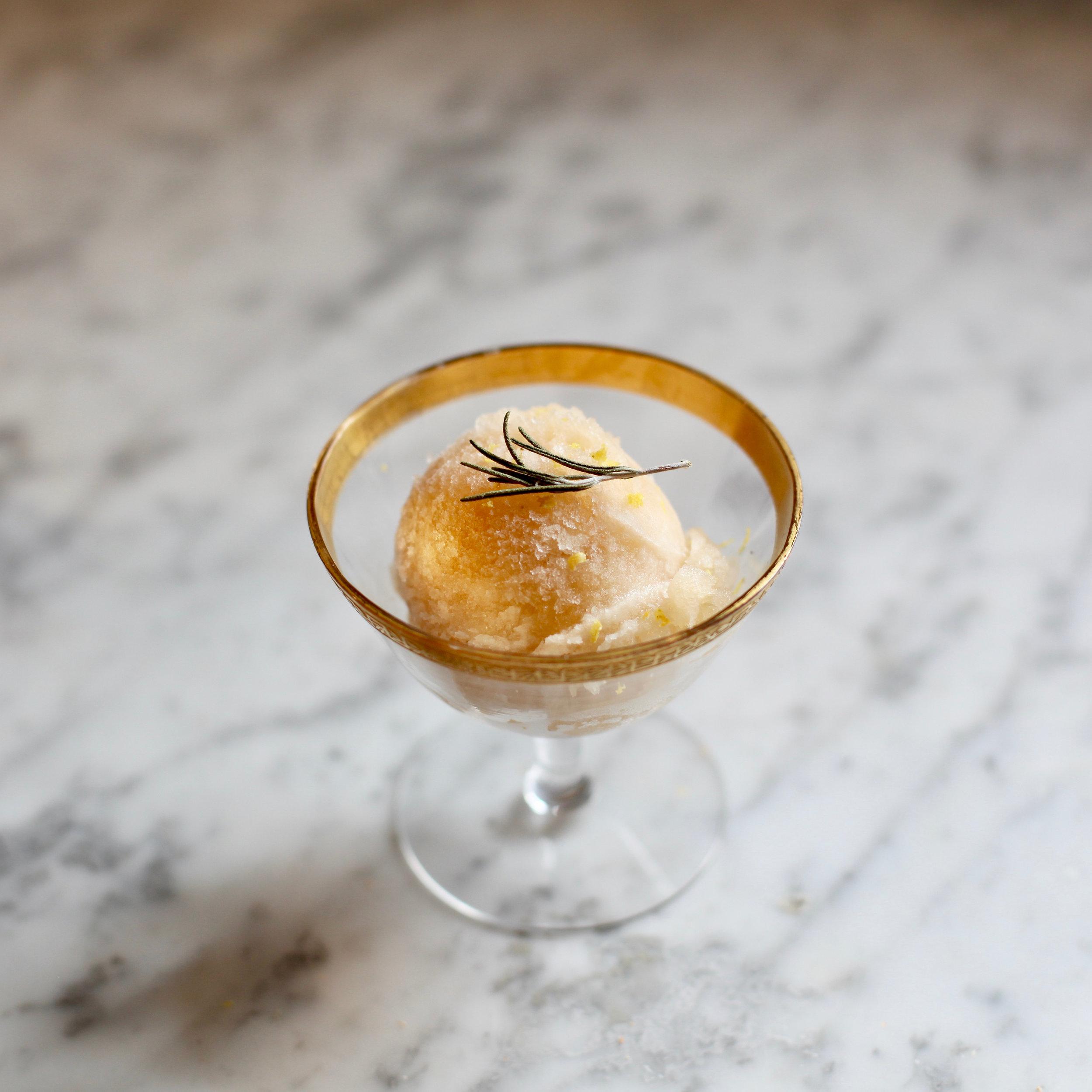 Grapefruit Vanilla <br> Sorbet