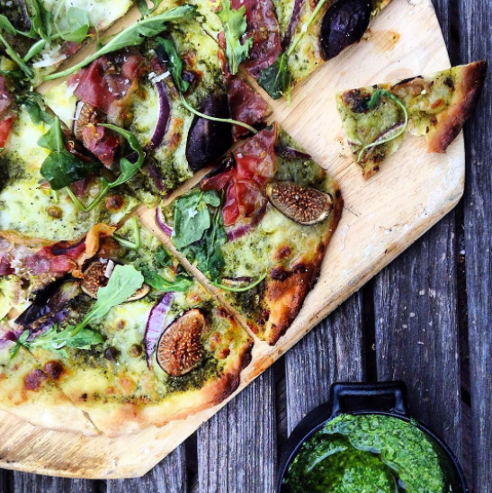 Lemon Pesto Pizza