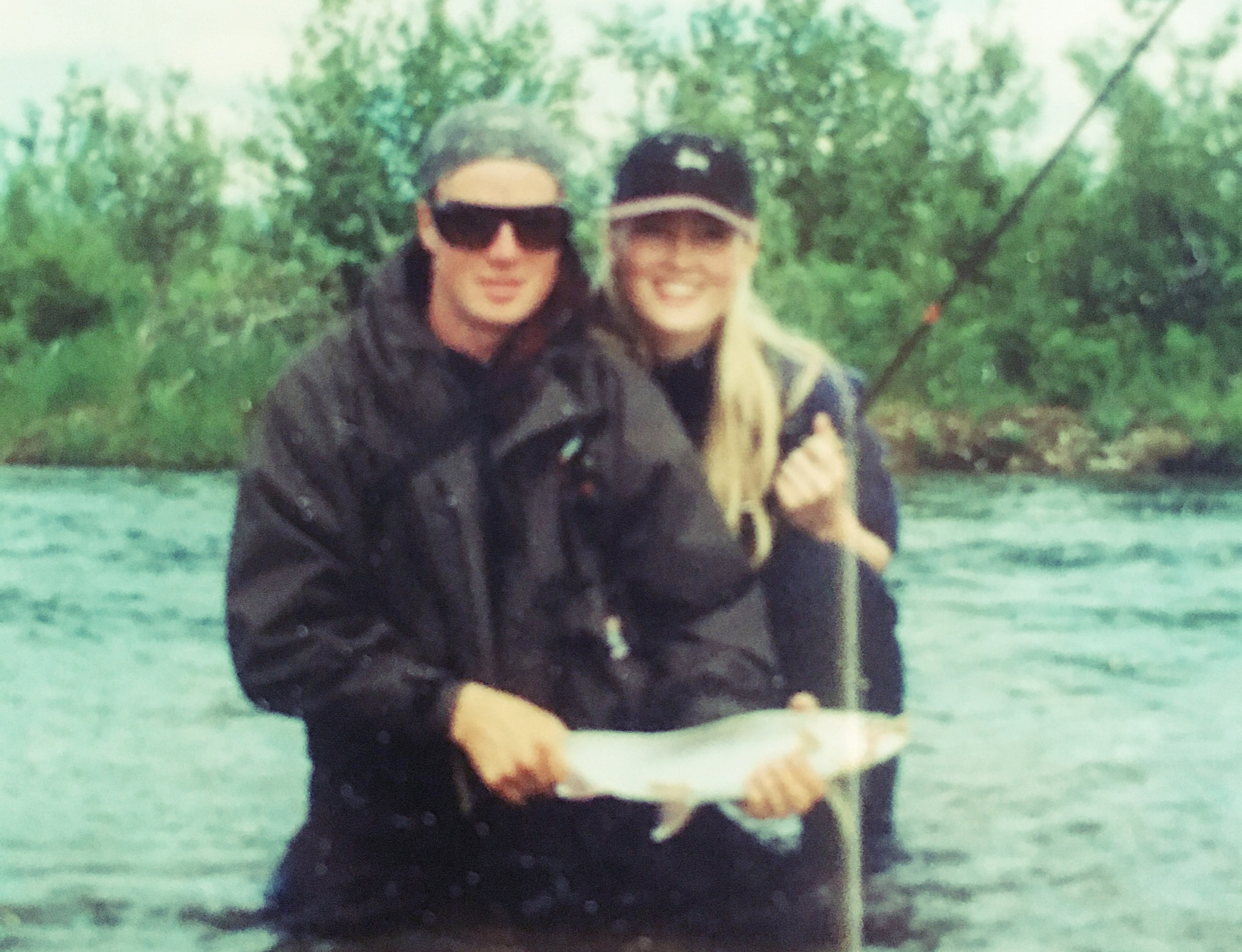 Our first date in Alaska 1995.