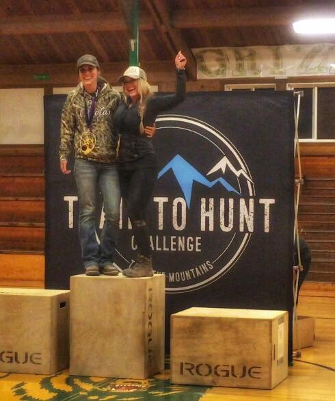 Kristy and Krista women's team champs- Oregon Train to Hunt 2017