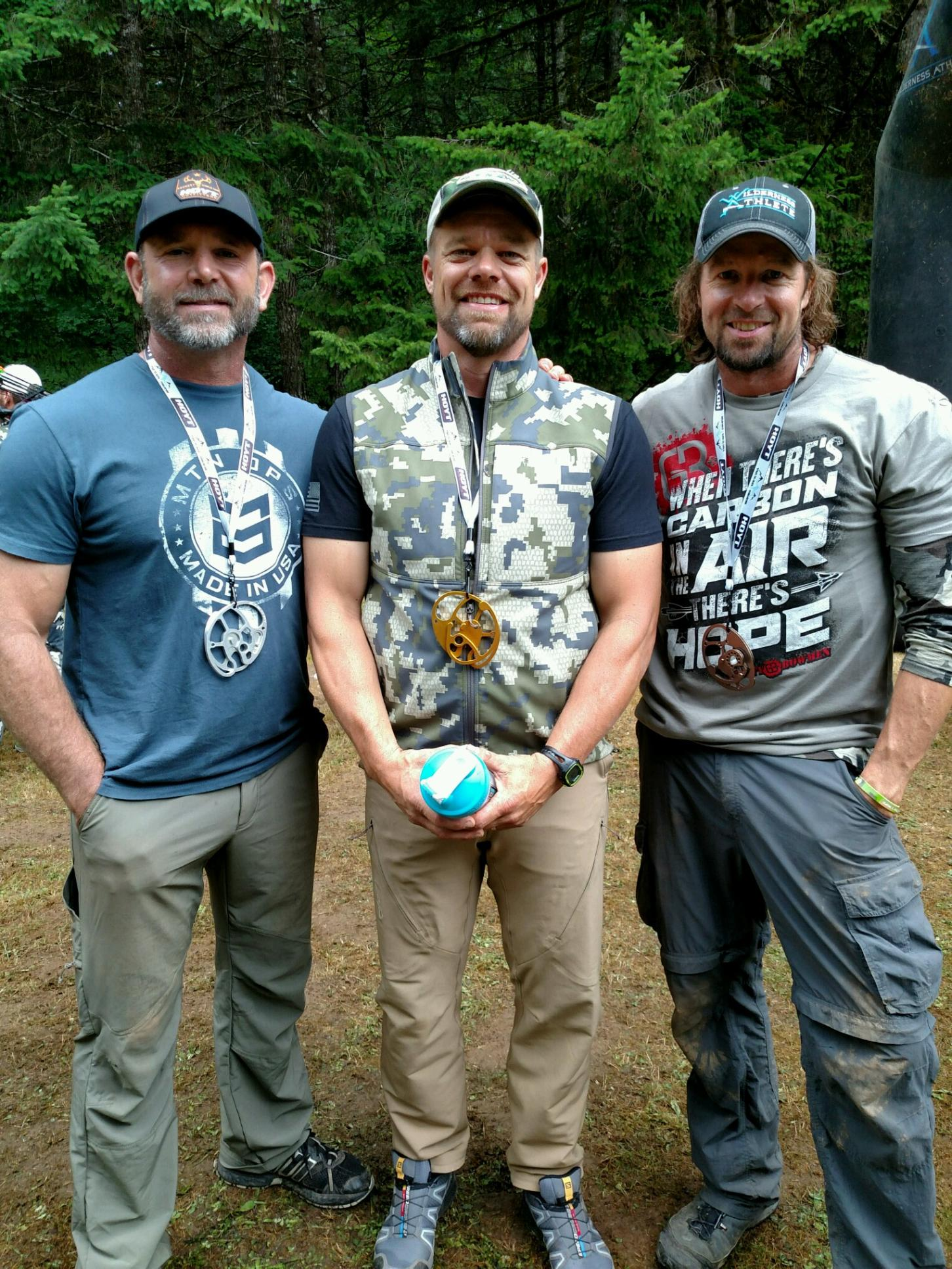 Russ Meyer, Scott Carr, and Ryan 2016 Train to Hunt Oregon Men's Masters Champs