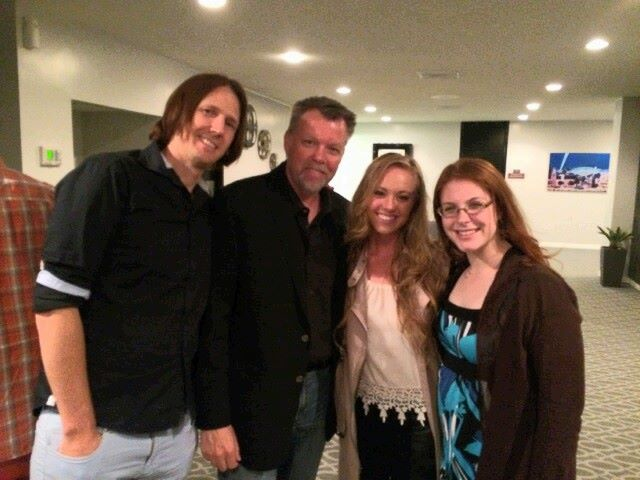 Love Finds You In Charm Premiere  Featured in this photo is composer jamie christopherson, EDITOR BRETT HEDLUND, Lead Actress Danie Chuchran, and Assistant Editor Sarah Furie.