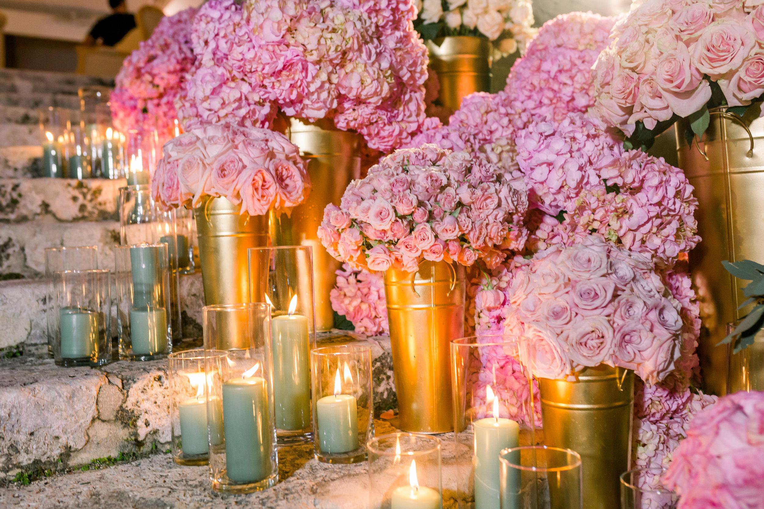 pastel floral display