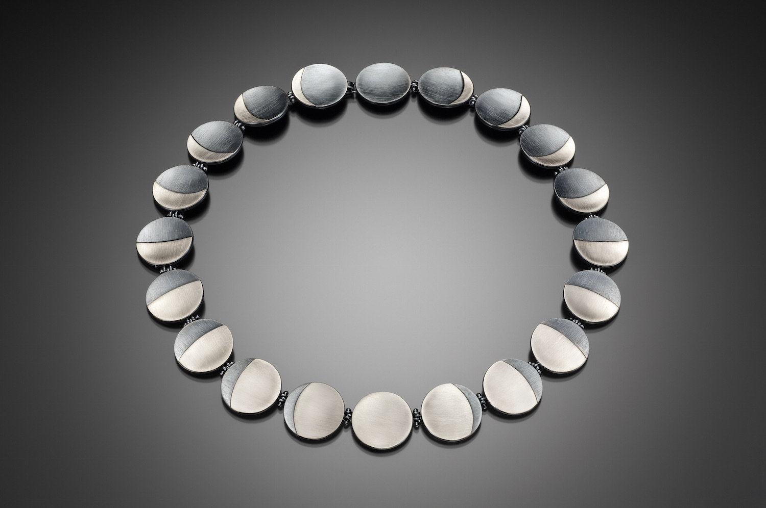 Palladium Phases of the Moon Necklace