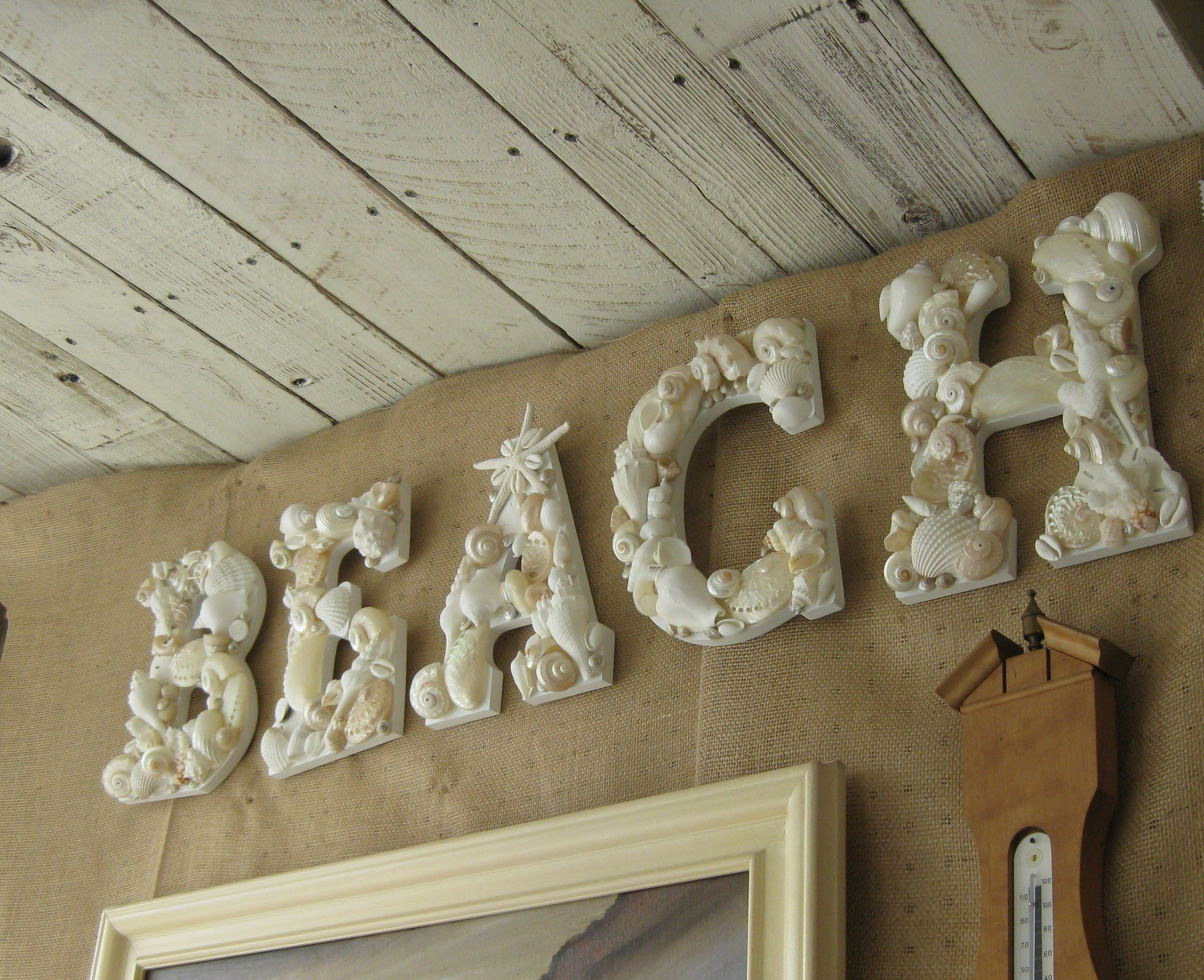 WEDDING ~ Custom Shell Letters