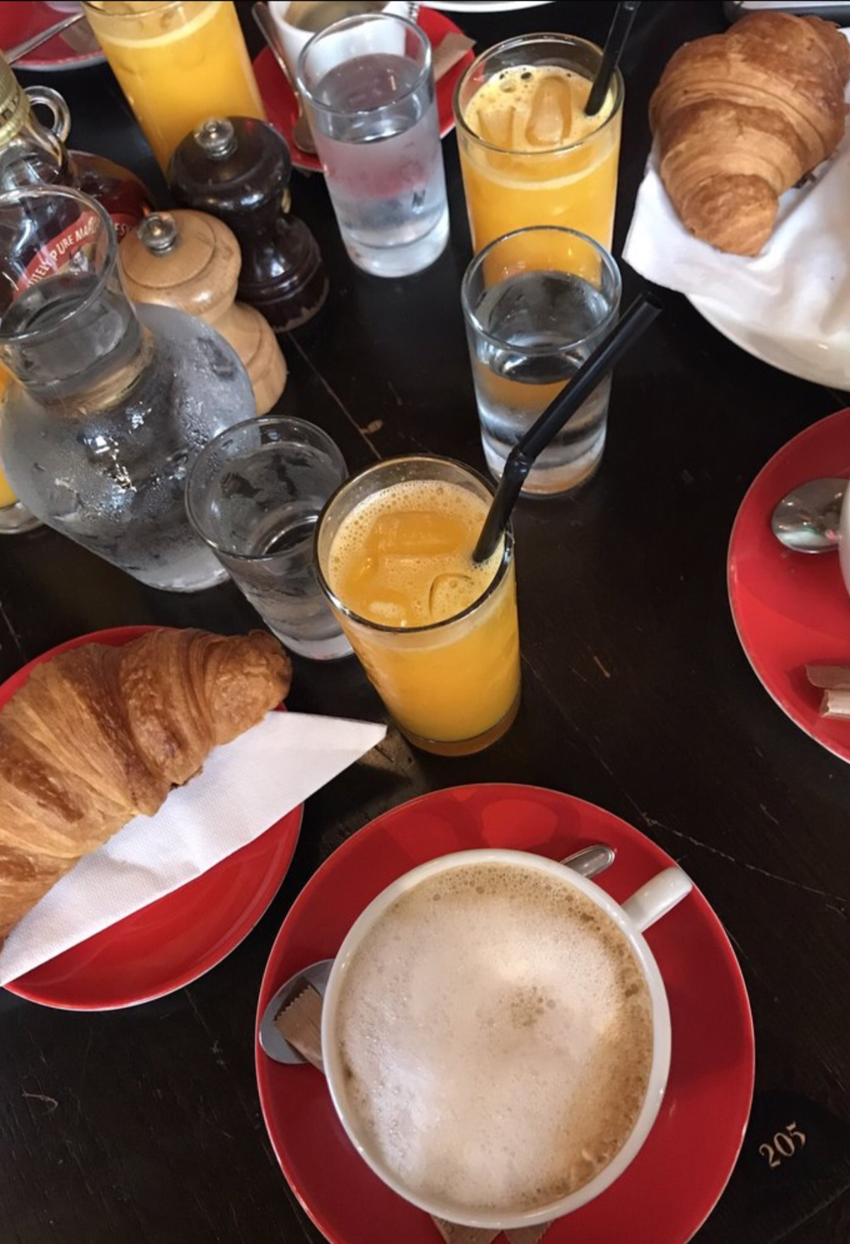 Walking to the Cafe Le Bonaparte, sitting down at a lovely table outside to have un cafe allonge (espresso with water), drawing in a deep breathe and realizing you are in Paris!