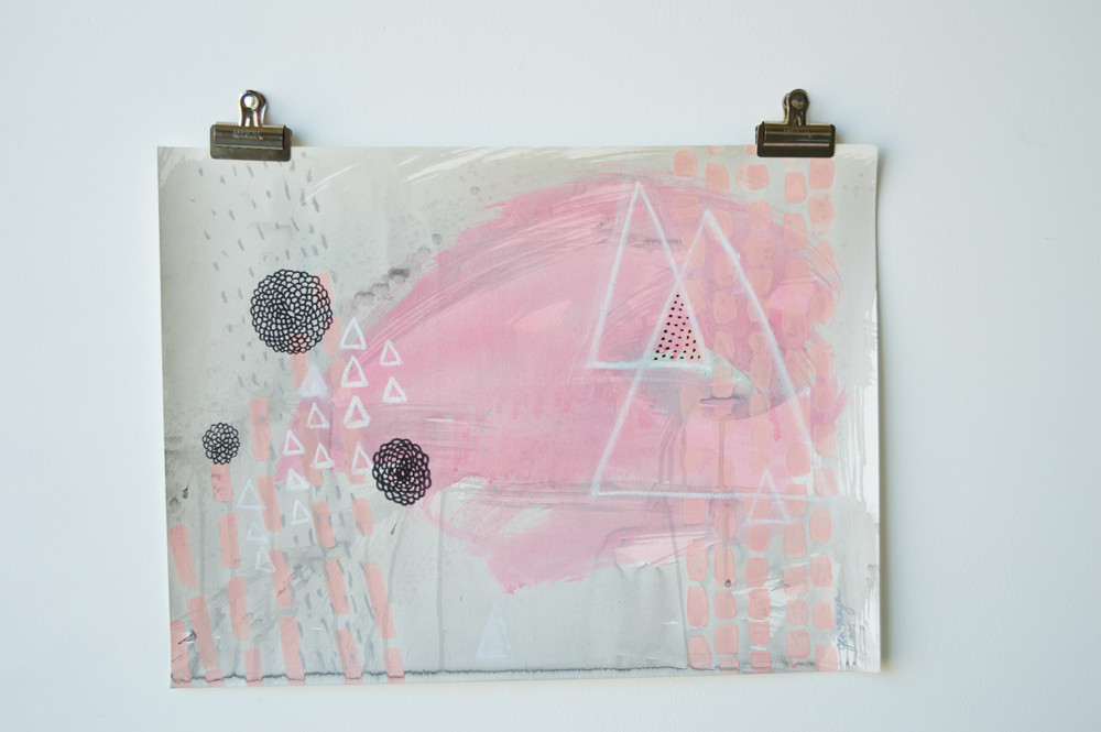 """""""Pink & Black #1"""", part of my newest series available in my shop."""