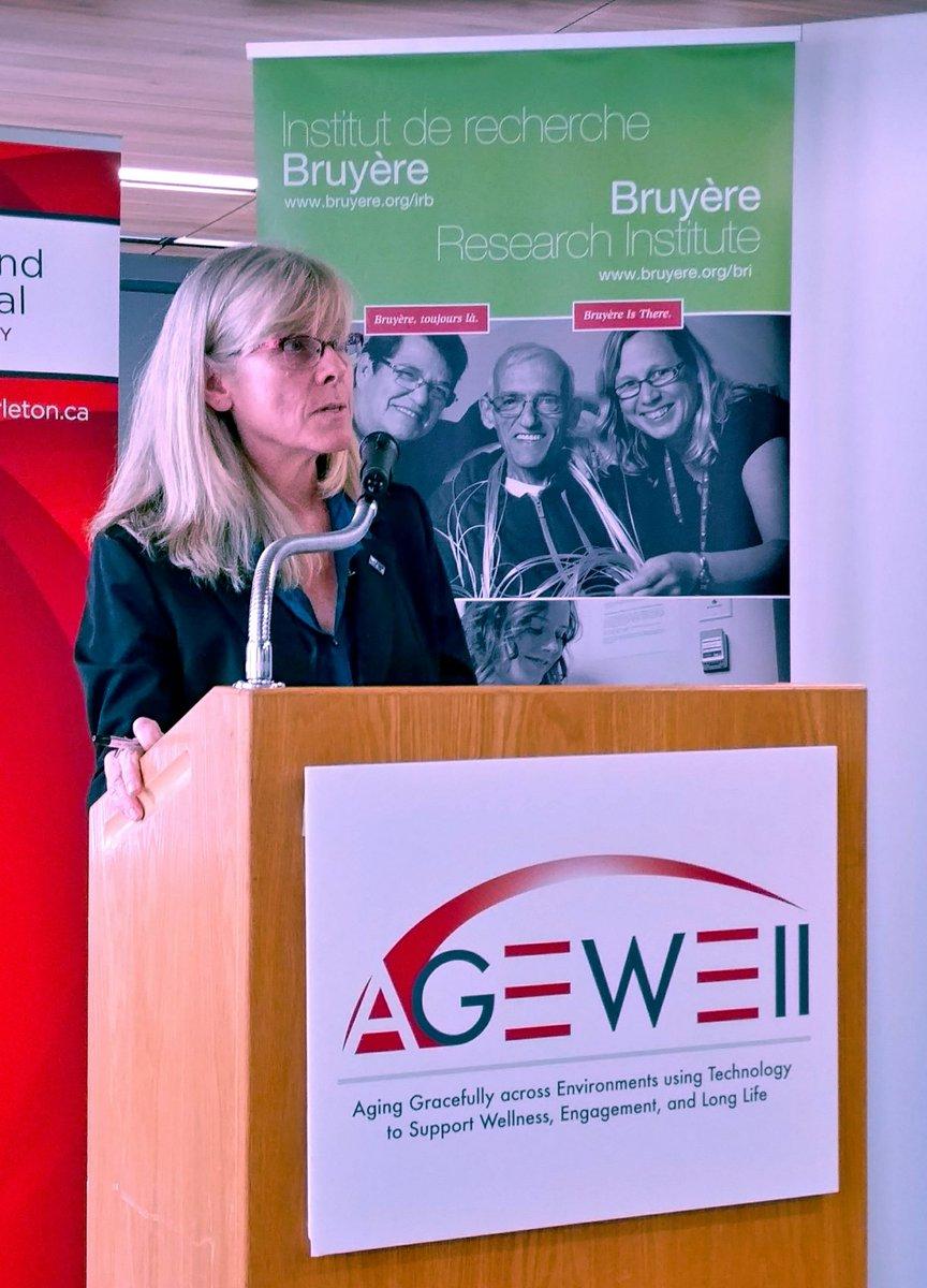 Dr. Heidi Sveistrup speaking at the Bruyere Research Institute