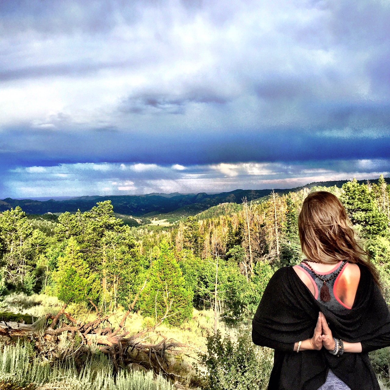 Colorado Shambhala Mountains... Soon thereafter a double rainbow appeared