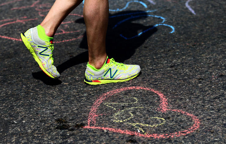 This picture was on the Runner's World  website !You can tell how slow I was going because of my shuffle stride. Normally my feet aren't that close together when I run, but I was struggling! Not the way I thought I was going to get in to Runner's World, but I'll take it.