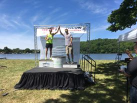 High-five for Todds on the podium!