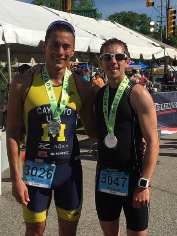 The guy who beat me: my buddy, Louis Cayedito. I have yet to beat him in a race, but always finish JUST behind him!