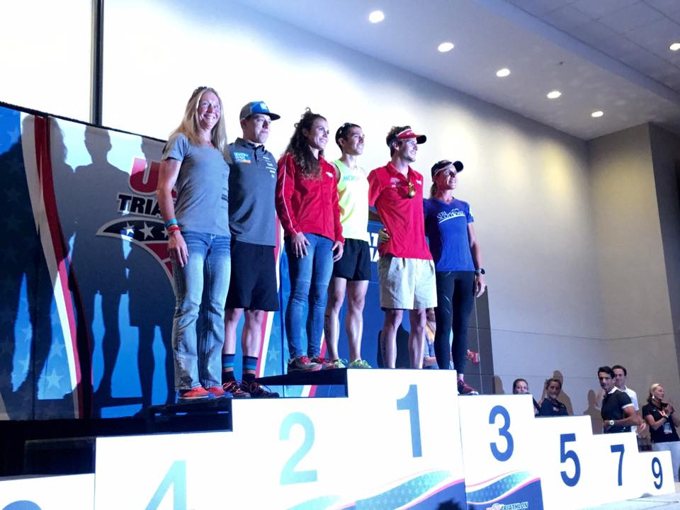 Top of the podium! Yet somehow still the shortest...