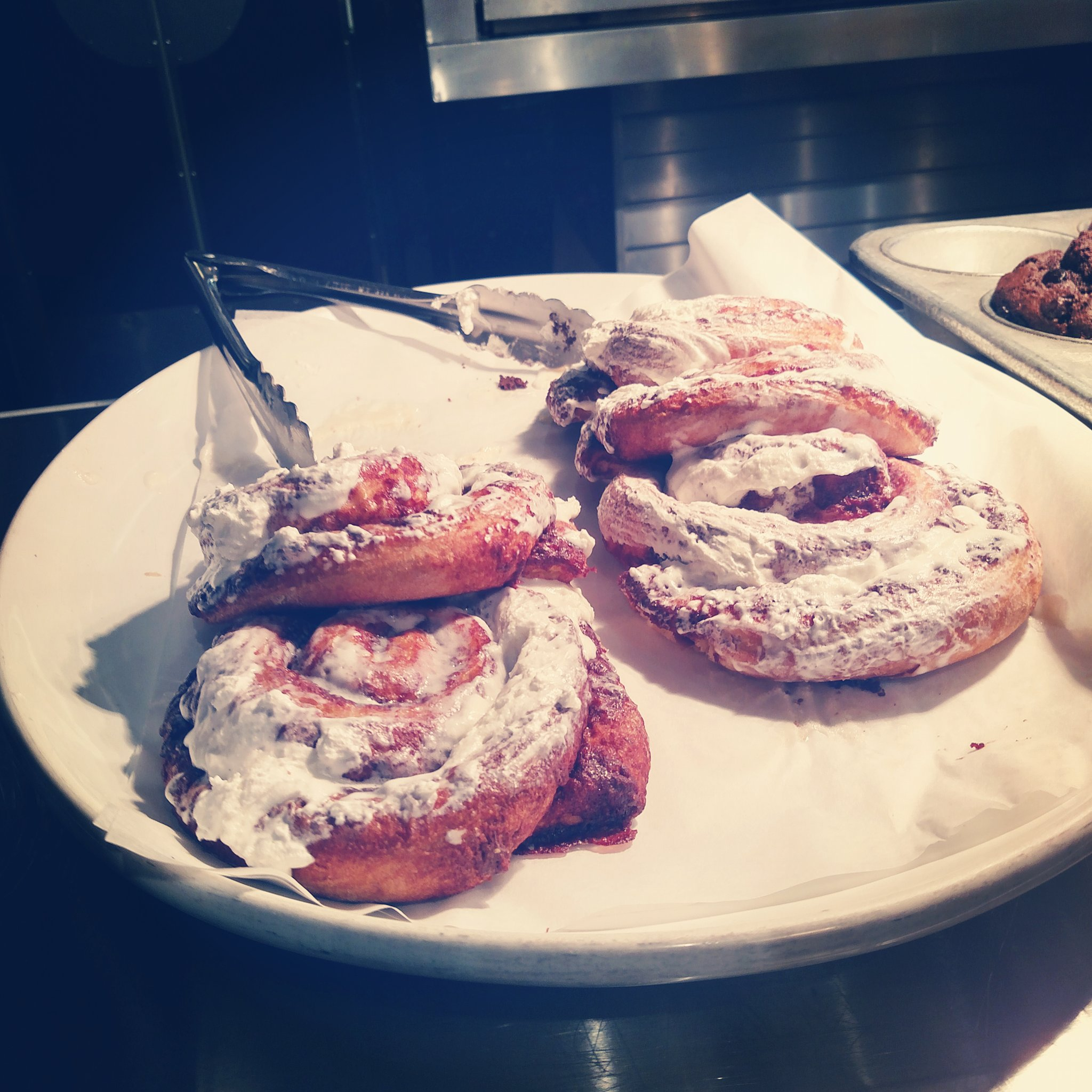 I had to pass on these cinnamon roll beauties, though :/
