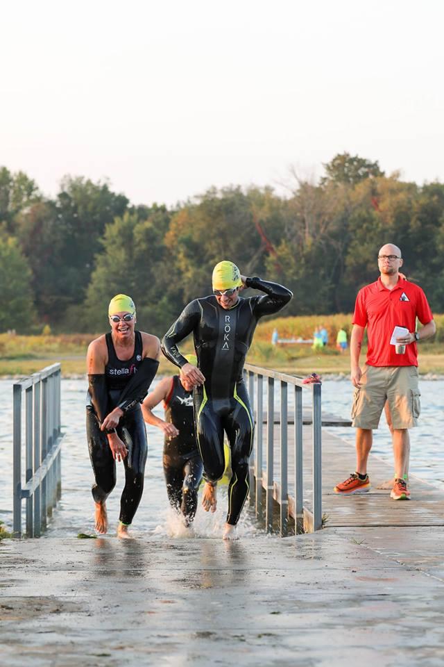 Allendale Triathlon Todd and Abby Swim.jpg