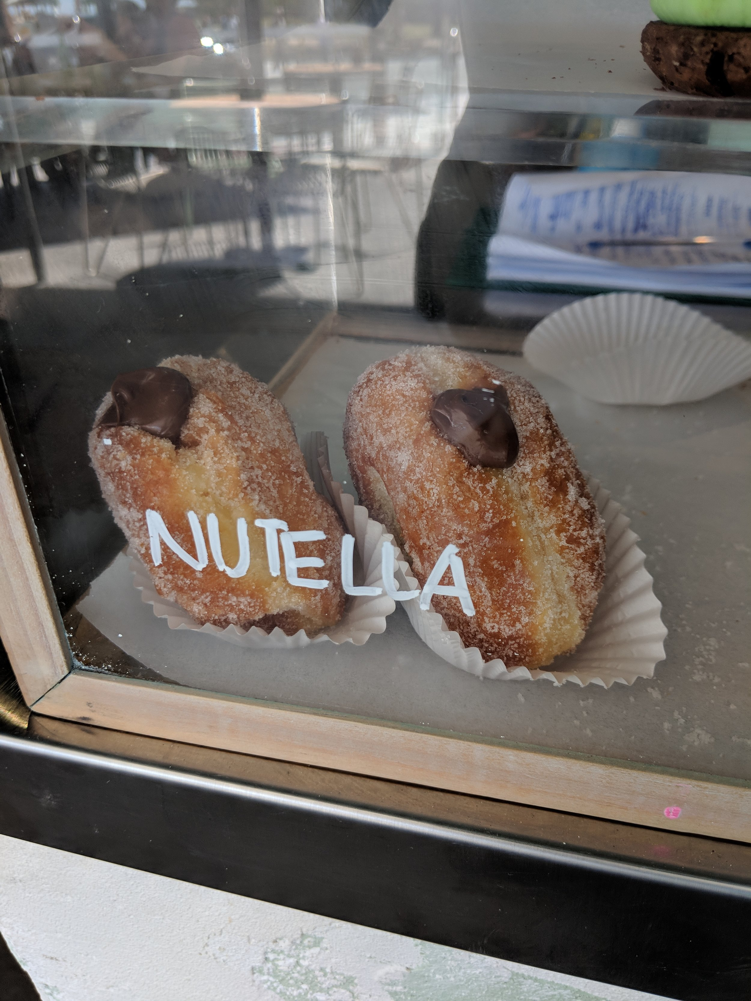 Nutella infused donut