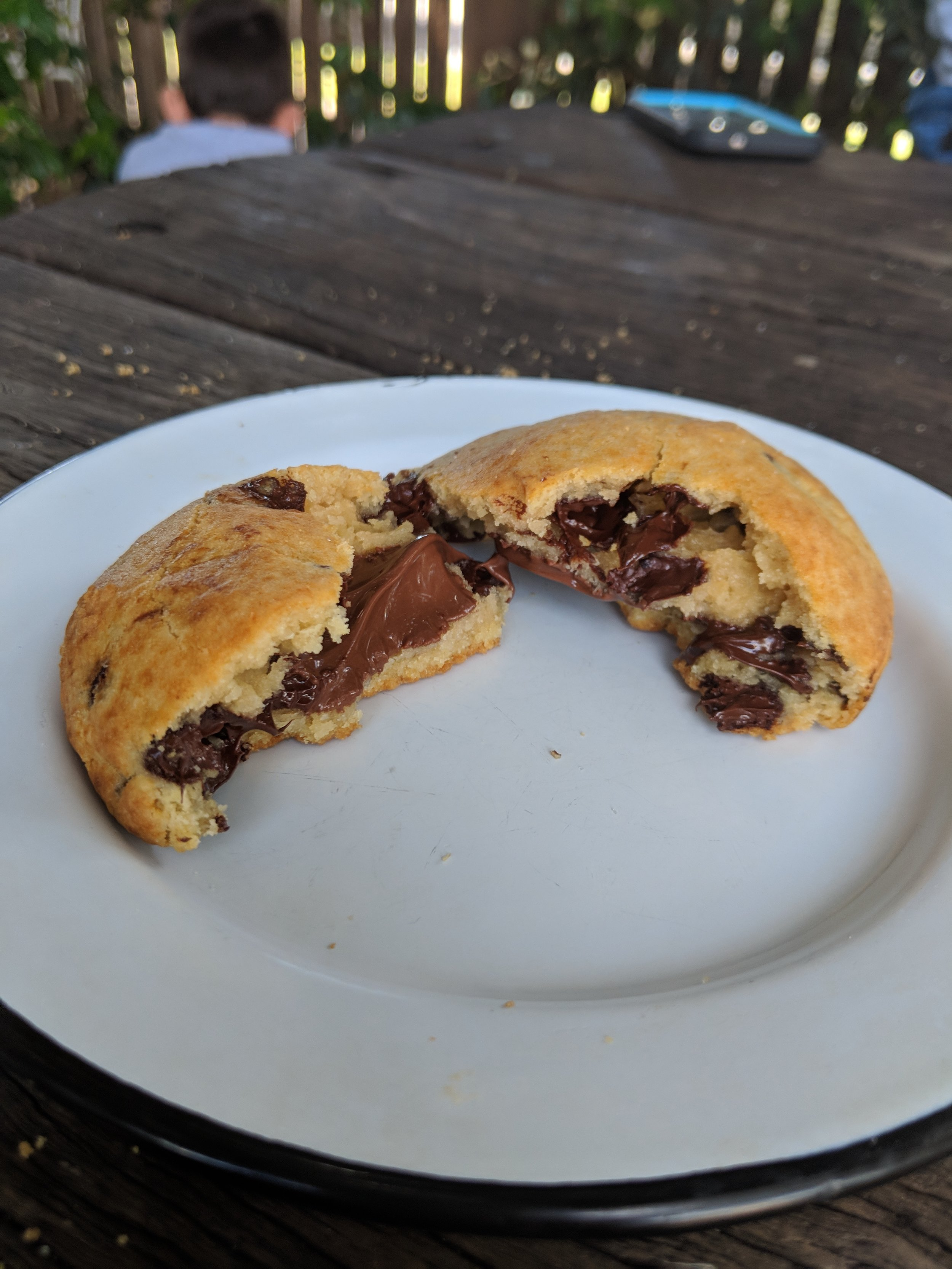 Nutella stuffed chocolate chip cookie