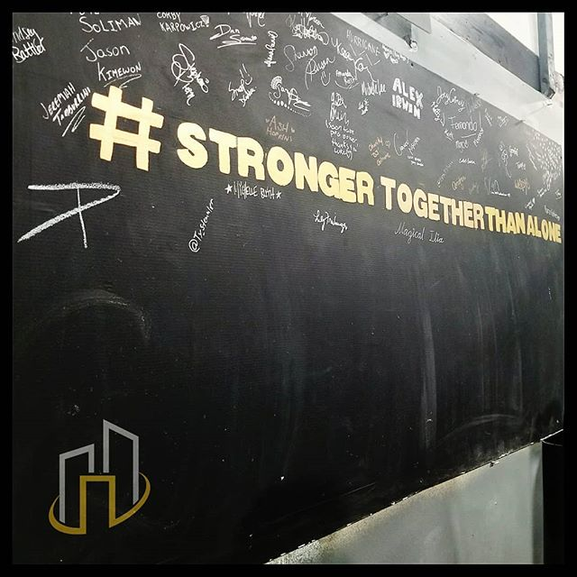 Come put your name onto our signing wall! ✏️ #StrongerTogetherThanAlone 💪