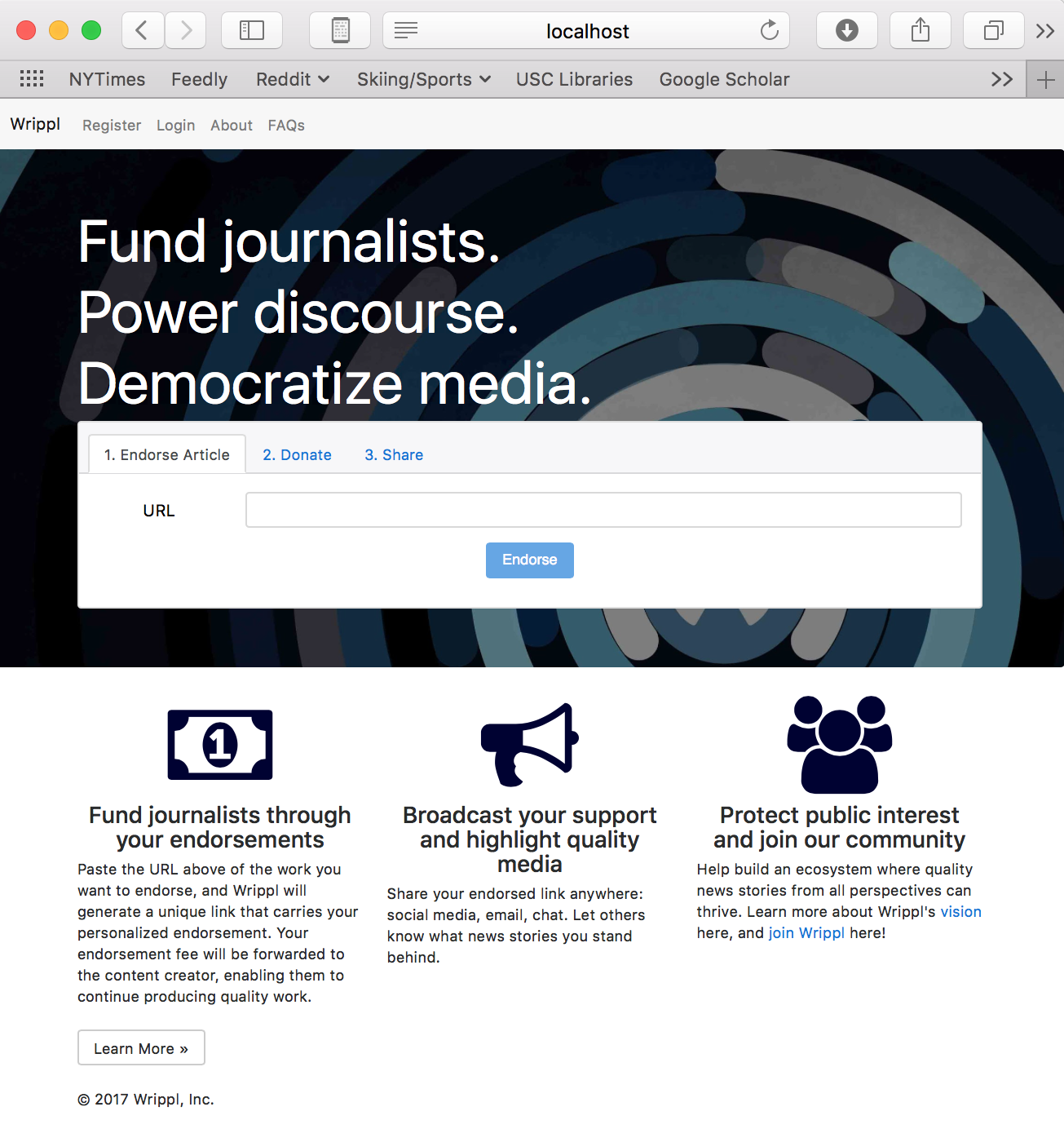 They go to wrippl.org and pay $1 to endorse the article -