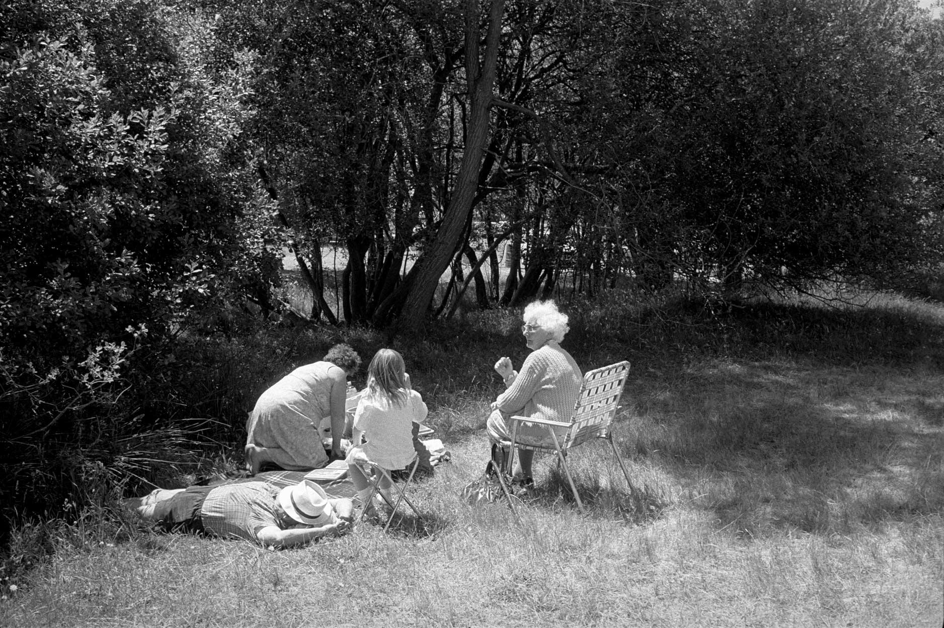 Picnic, The Groynes, Canterbury, 1987