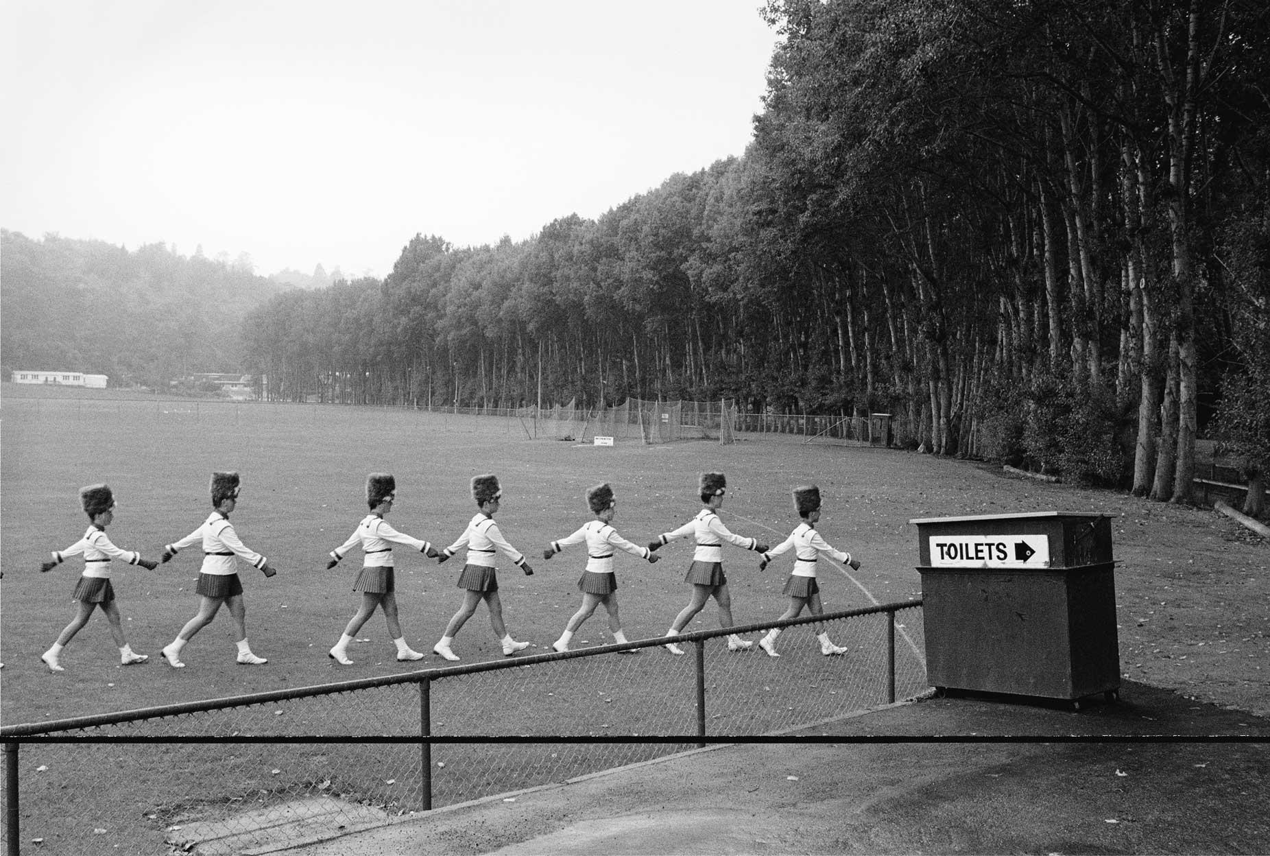 Marching team, Logan Park, Dunedin, 1991