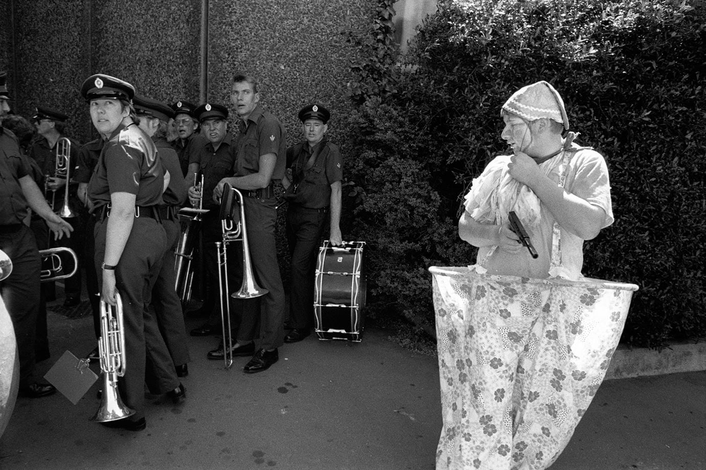 Santa Parade, Christchurch, 1989, Bruce Foster, NZ
