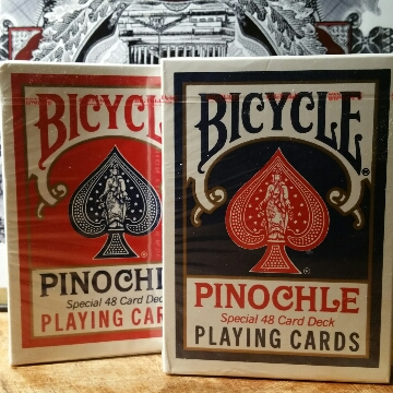 DUAL DECK COMBO 1 Red 1 Blue Pinochle Deck 6.00