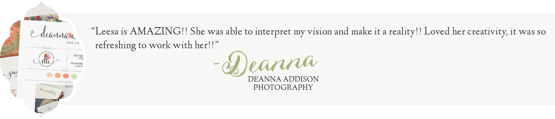 Leesa Dykstra Designs - Review Deanna Addison Photography