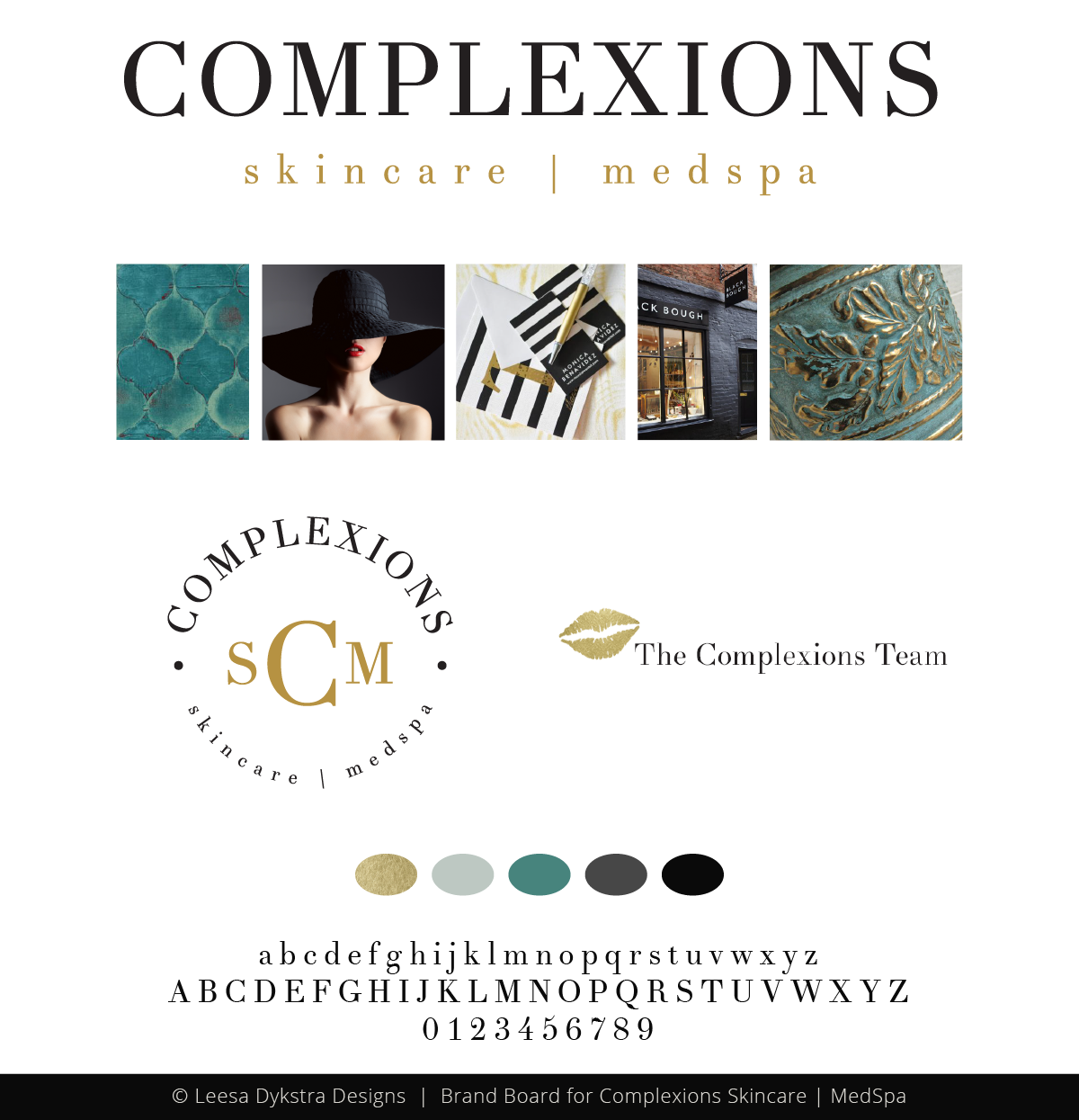 Brand Board for Complexions Skincare Medspa by Leesa Dykstra Designs